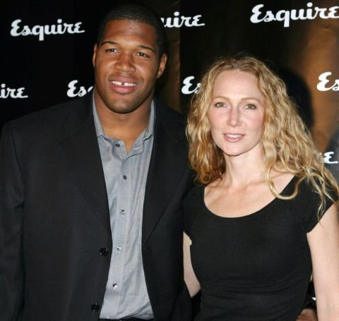 Michael Strahan with his wife, Jean Muggli.