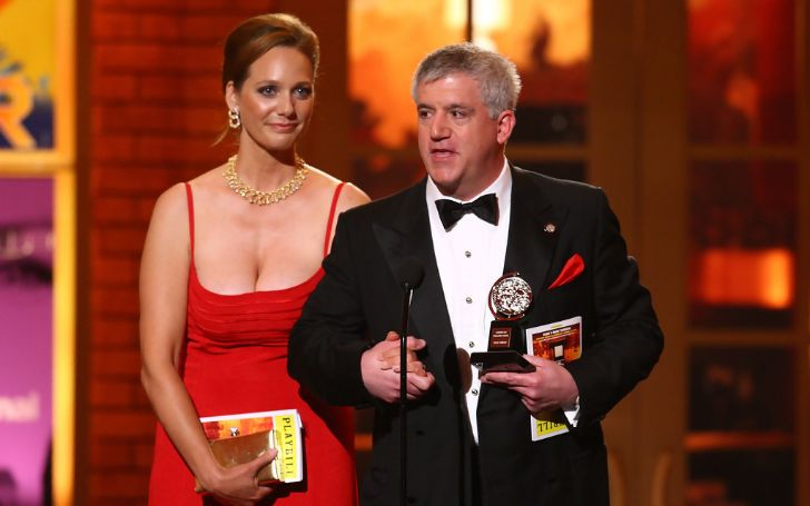 Gregory Jbara accepts the award for Best Performance by a Featured Actor in a Musical for