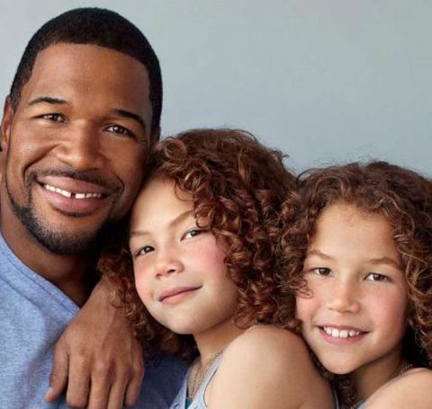 Michael Strahan with his daughters, Sophia and Isabella Strahan.