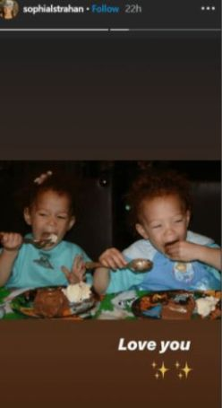 Sophia and Isabella Strahan during childhood.