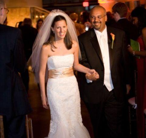 Mo Elleithee and wife Talya Stein on their wedding day.