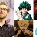 A collage of Justin Briner and his major characters.