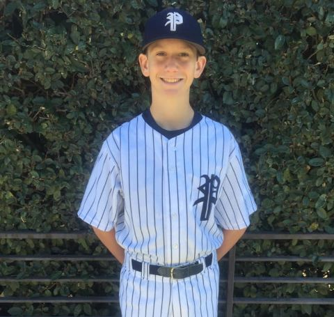 Julie's youngest son, Aidan is a junior baseball player.