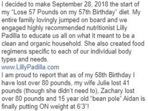 A snip of Gregory Jbara's FB Post.