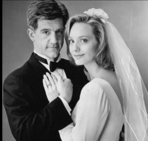 Julie and Gregory Jbara's wedding picture.