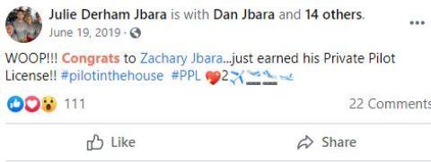 Julie Jbara's Post about Zachary Jbara.