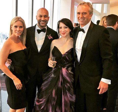 A group photo of Cheryl Hines, Robert Kennedy, Keegan-Michael and Elisa Key.