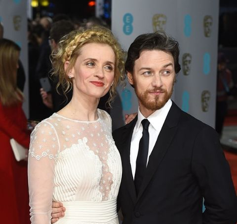 James McAvoy and Anne-Marie Duff at a red carpet event.