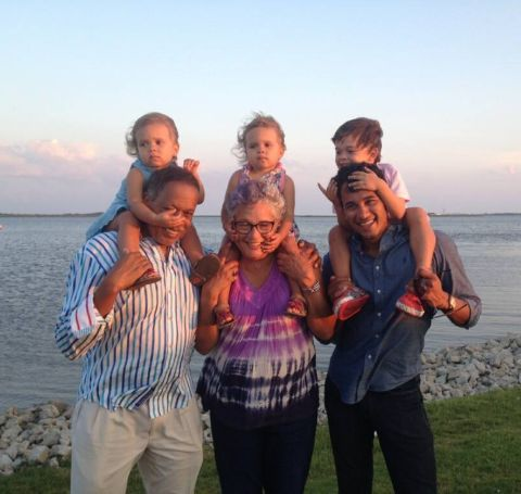 A photo of Juan and Susan with Raffi Williams and his kids.