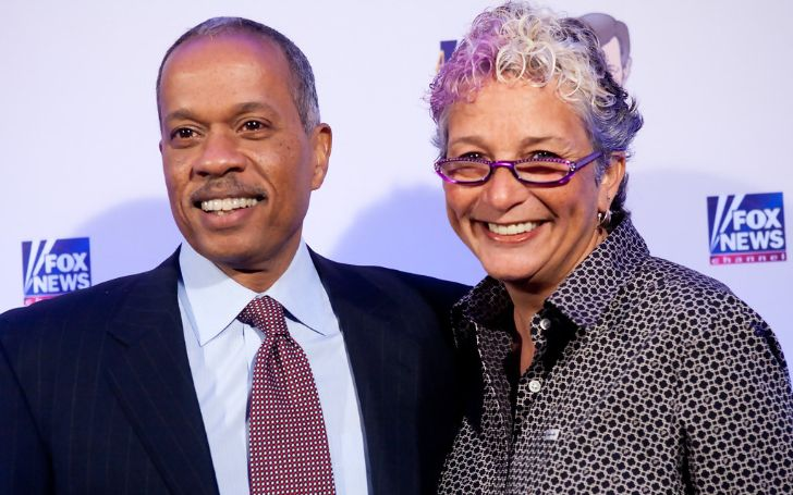 Juan Williams and Susan Delise at a red carpet event.