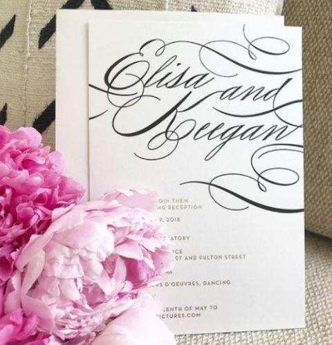 Keegan-Michael Key and Elisa Pugliese's Wedding Invitation Card.