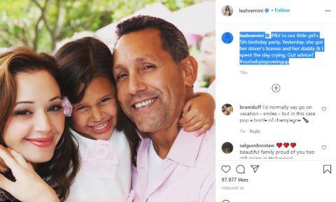 Leah Remini's Instagram Post.