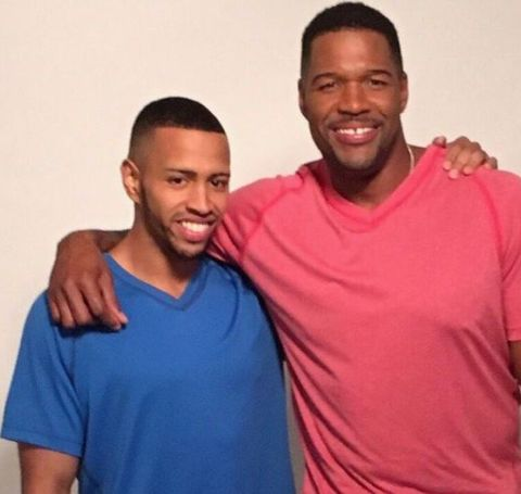 Michael Strahan with his son, Michael Strahan Jr.