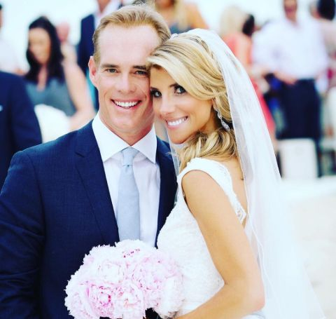 Michelle Beisner and Joe Buck's wedding day picture.