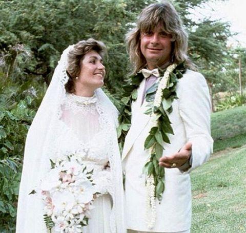 Ozzy Osbourne and Sharon Osbourne's wedding day.