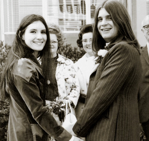 Thelma Riley  and Ozzy Osbourne during their wedding.