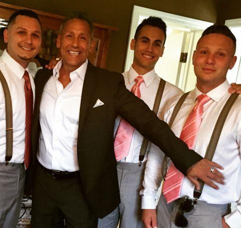 Alex, Angelo Jr, and Nicholas Pagan with Father, Angelo Pagan.