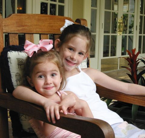 Childhood photo of Trudy and Natalie Buck.