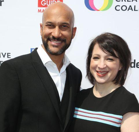 A photo of Keegan-Michael Key and Elisa Pugliese.
