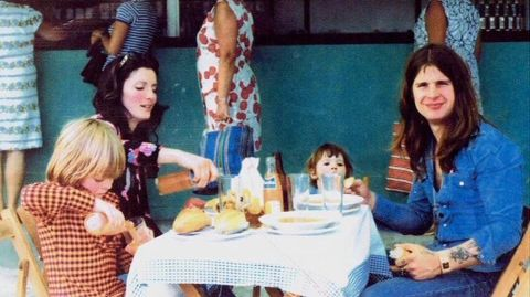 Thelma Riley with her kids and ex-husband, Ozzy Osbourne.