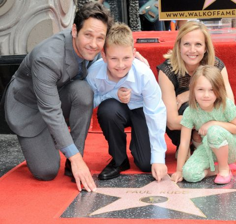 Paul Rudd's Family at the Hollywood Walk of Fame.