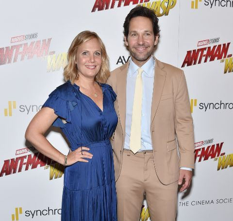 Paul Rudd and Julie Yaeger at an event.