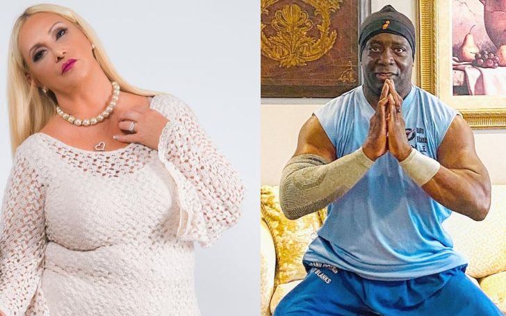 A collage of Billy Blanks and ex-partner, Gayle Godfrey.