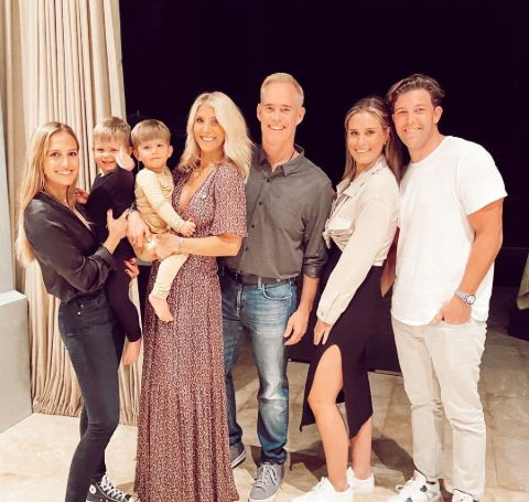 Natalie Buck with her family and boyfriend.