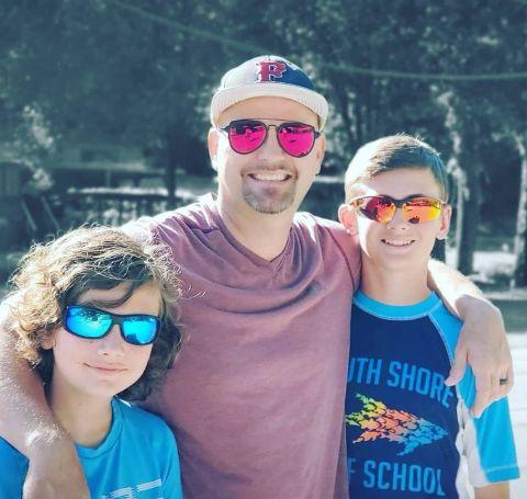 Mark Cimarosti with his kids.