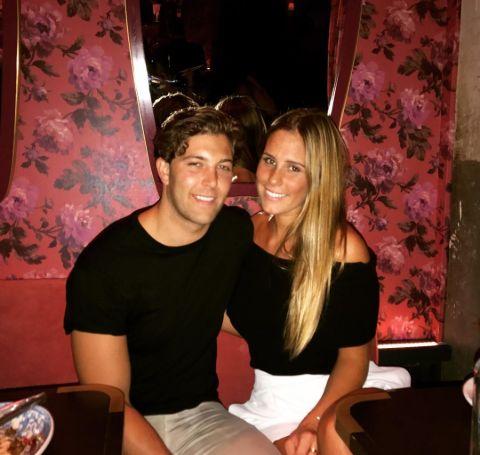 Natalie Buck and Bobby Ciapciak on a date.