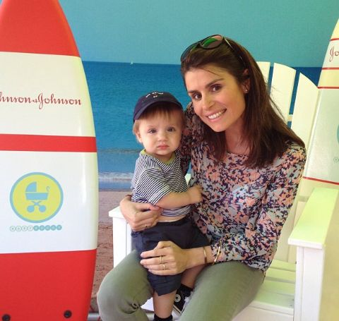 Florinka Pesenti with son, Everett Floyd Abrams.