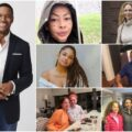 A collage of Michael Strahan's Wives and Kids.