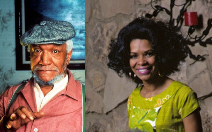 A collage of Redd Foxx and Betty Jean Harris.