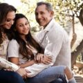 Sofia Bella Pagan with her parents Leah Remini and Angelo Pagan.