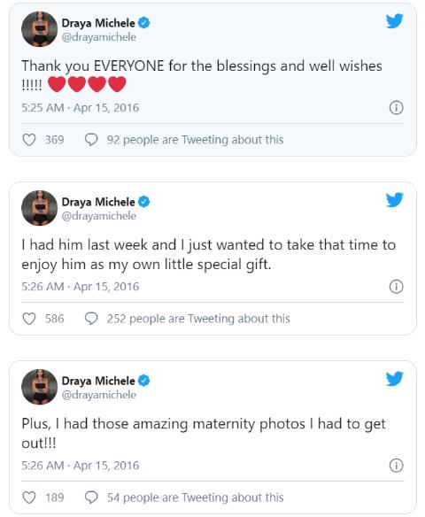 Draya Michele Talks about Her Son Jru's Birth.