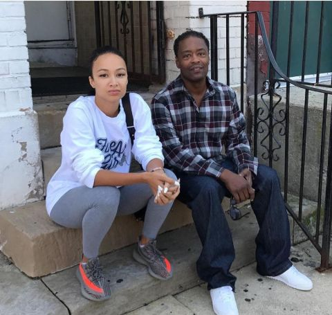 Draya with her dad.