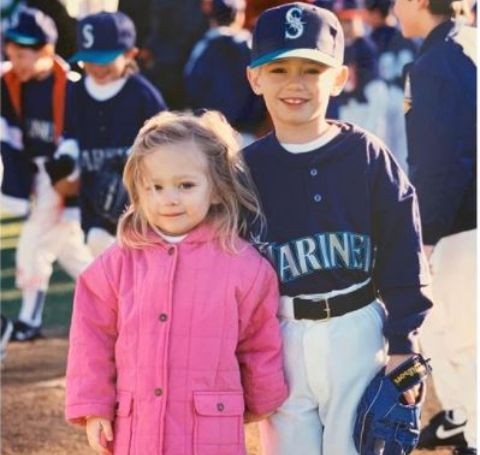 Maggie and Patrick as kids.