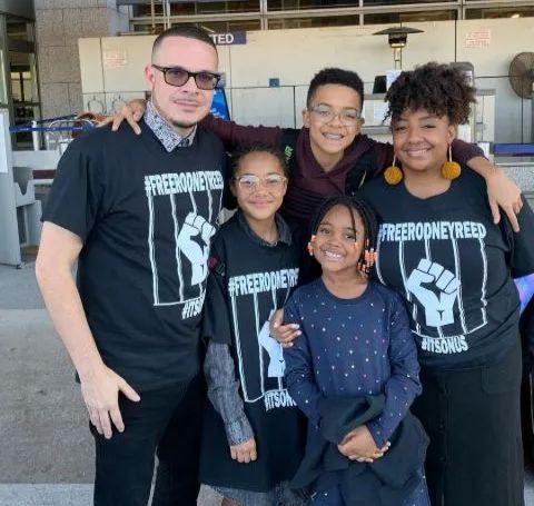 Shaun King and his family.